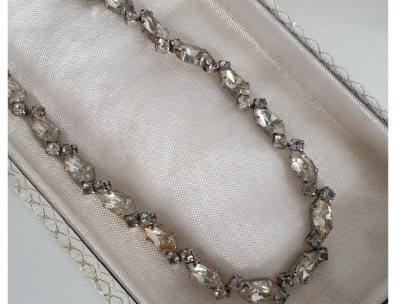 1950s Christian Dior necklace | Chr. Dior rhinesto