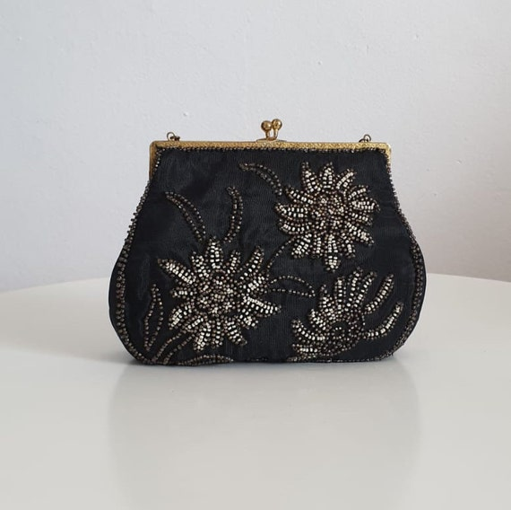 1930s bag purse with beaded embroidery | vintage 3
