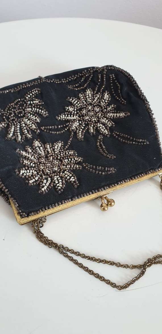 1930s bag purse with beaded embroidery | vintage … - image 8
