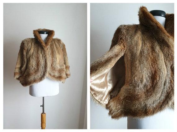 Vintage 1930s fox fur cape | 30s fox fur stole | 1