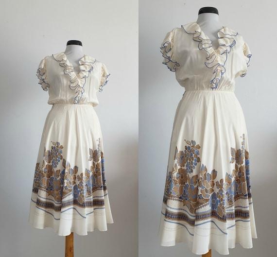 Louis Feraud silk dress | vintage silk dress | ivo