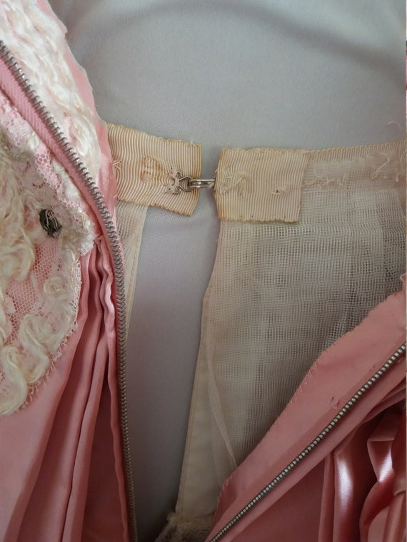 1940s lace&taffeta ball gown | vintage 40s ball g… - image 7