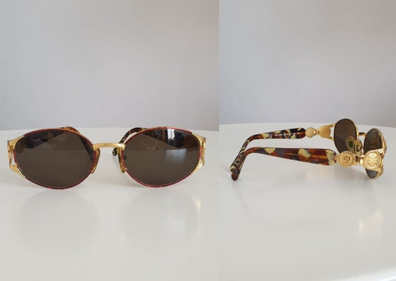Vintage Fendi sunglasses | Fendi gold dual head su