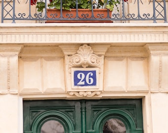 Paris Photography, Door 26 in Paris, Paris Inspired Wall Art, House Warming Gift, Home Decor, Living Room Paris Print