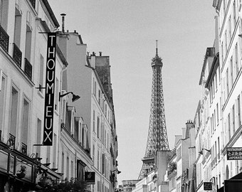 Stunning Eiffel Tower Paris Photograph, Paris Wall Art, French Home Decor, Black and White art, French, Parisian
