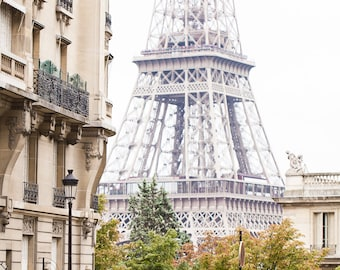Paris Photography, Stunning Parisian Street with the Eiffel Tower in the Background Wall Art, Home Decor, Gift for francophile