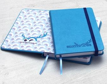 Blumoose Small Hardback Journal - Light Blue