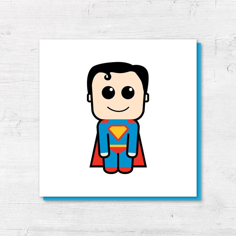 Superman Karte Superman Geburtstagskarte Superhelden Karte | Etsy