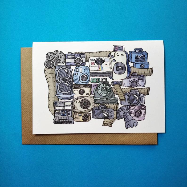 Appareil Photo Carte Danniversaire Etsy Carte De Voeux Carte De Voeux Vierges Illustré Cartes De Etsy Joyeux Anniversaire Carte Carte