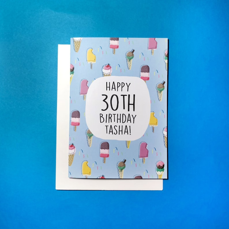 Personalised Birthday Card Custom Ice Cream