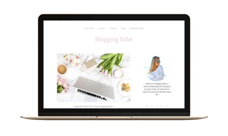 WordPress Blog Theme  Blogging Babe Minimal Blog Design  image 0