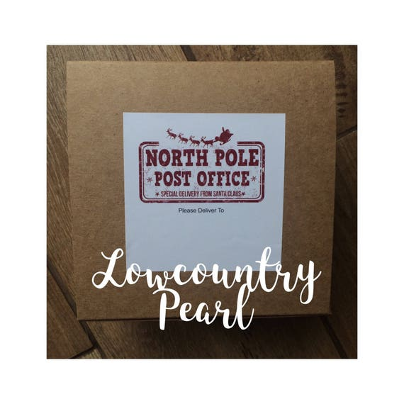 North Pole Post Office Shipping Labels | Etsy