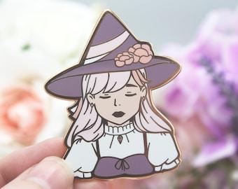 Purple Pastel Witch - Enamel Pin -