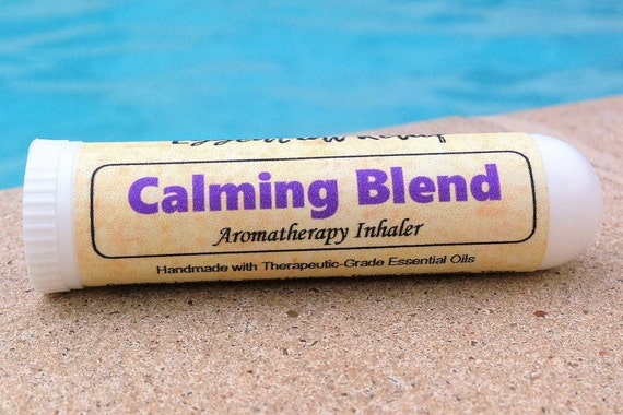 Calming Anxiety Essential Oil Inhaler Calming Blend Essential Etsy