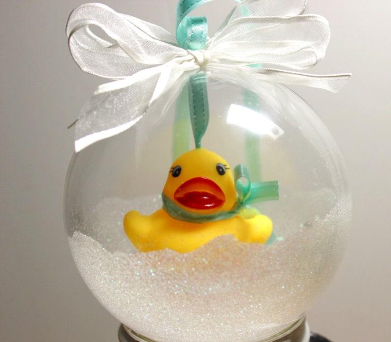 Rubber Ducky Christmas Ornament Handmade Rubber Ducky Ornamen Blue