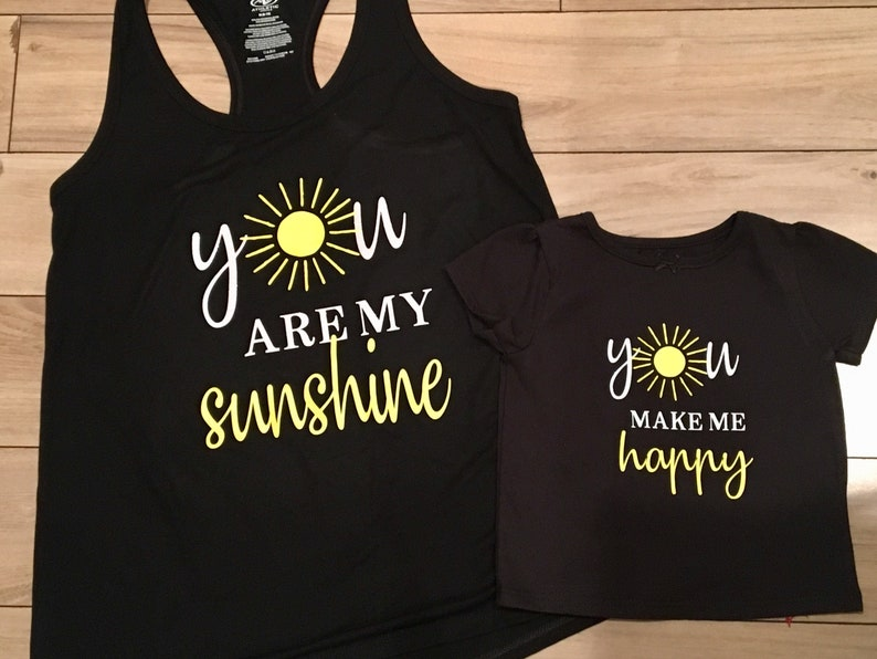 Mommy and Me Outfit Baby Shower Gift Baby Clothes You Are My Sunshine  Matching Outfits New Baby Gift Mom Daughter Matching Clothes