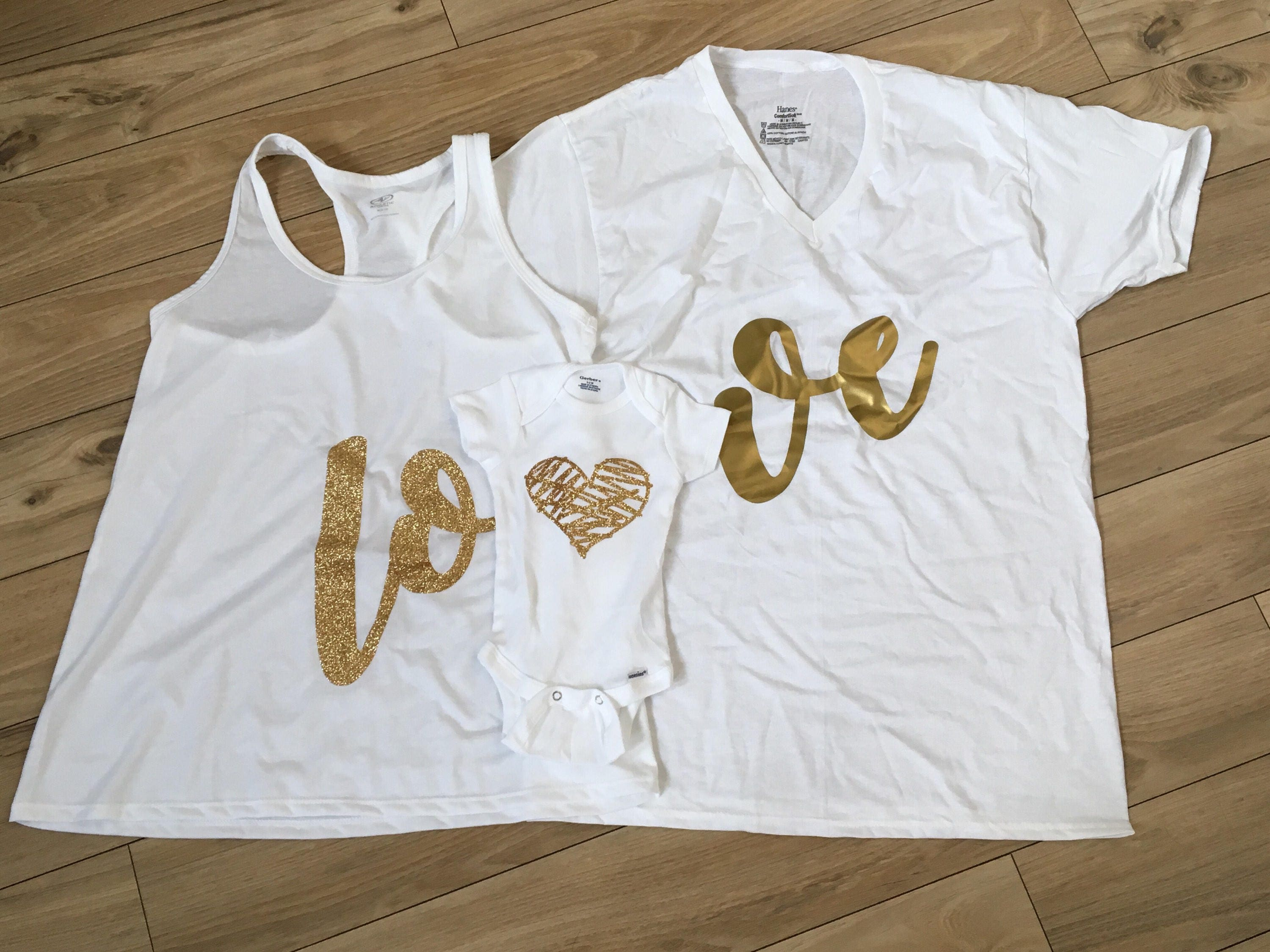 Matching Family Outfits Mommy and Me Dad Daughter Shirts