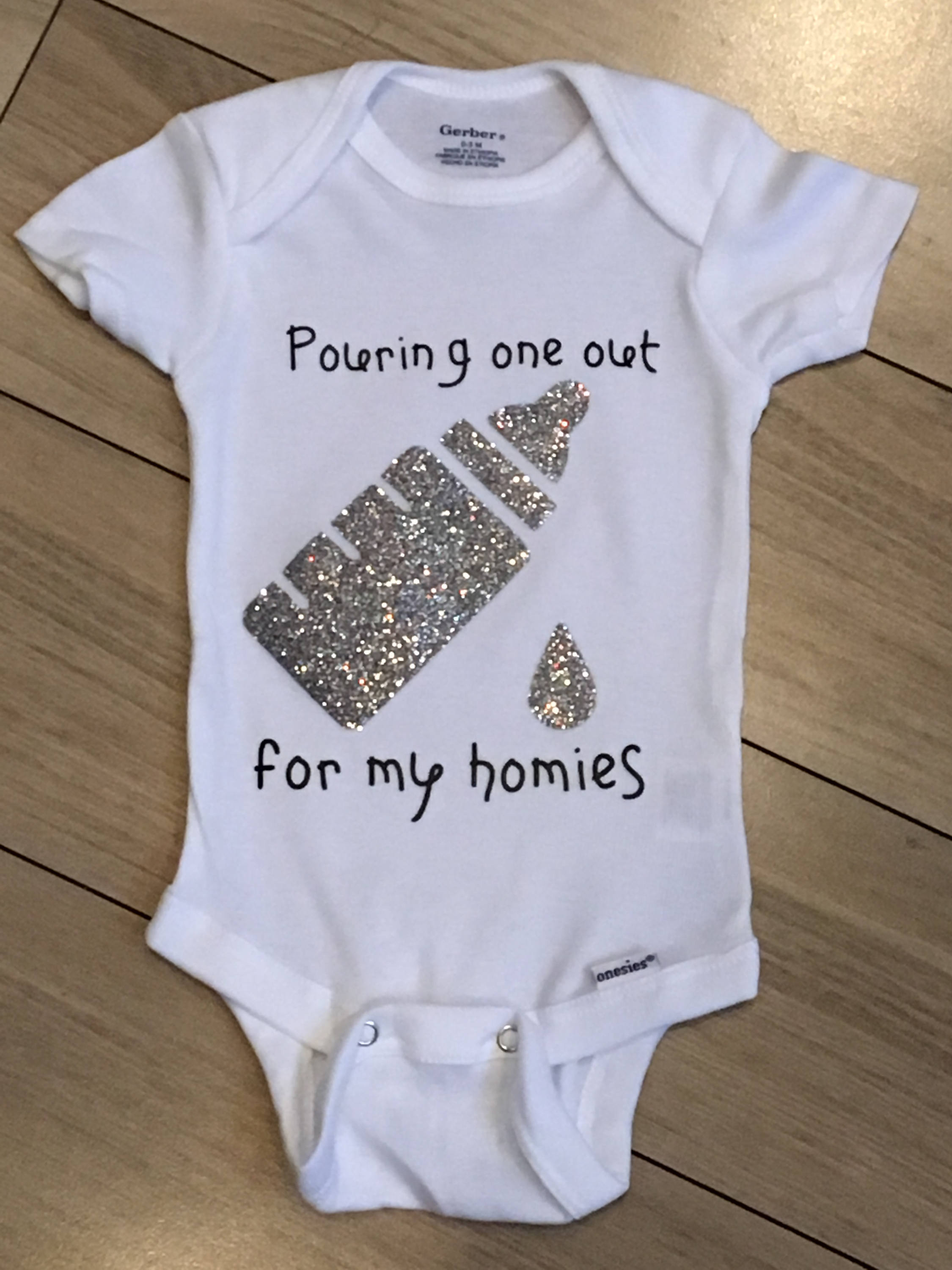 cf8ce0369c99 Funny Baby Gifts Gangster Baby Onesie Funny Baby Girl Clothes   Etsy