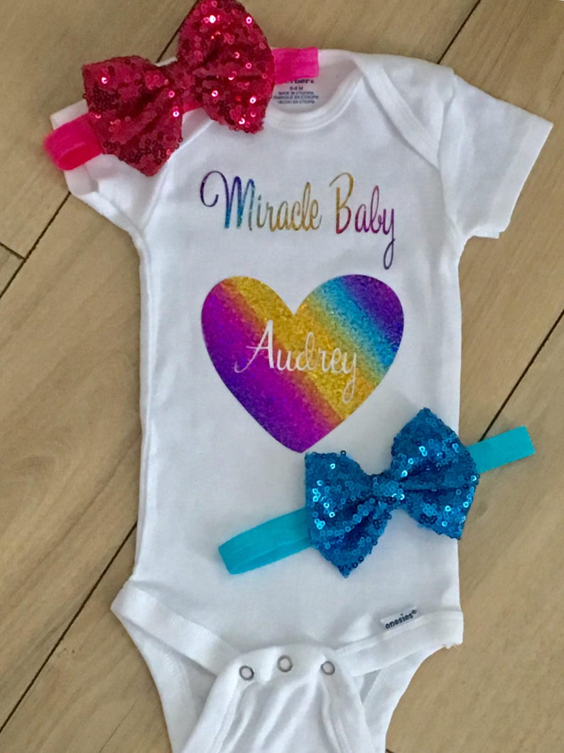 526efee5d Rainbow Baby Onesie Miracle Baby Onesie Worth the Wait Custom | Etsy