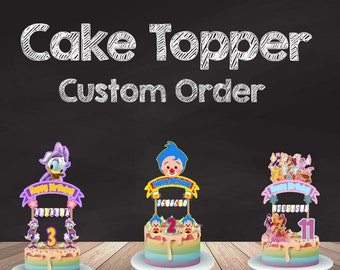 Custom Order, Custom Cake Topper, Printable Cake Topper, Design Cake Topper, Request It Here, Banderin para pastel Personalizado, Banner