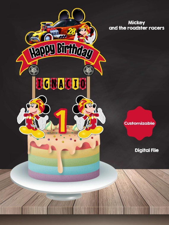 Mickey And The Roadster Racers Cake Topper Mickey Mouse Etsy