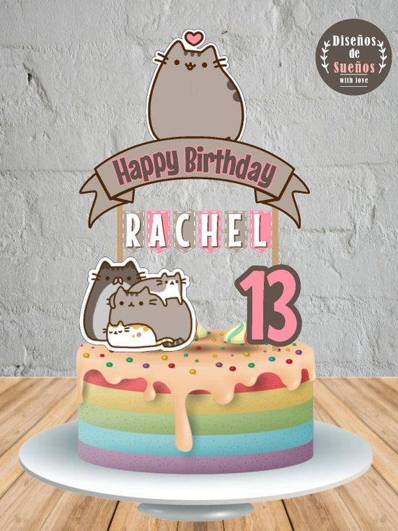 Cat Cake Topper Cat Birthday Cat Party Cat Custom Cake Etsy