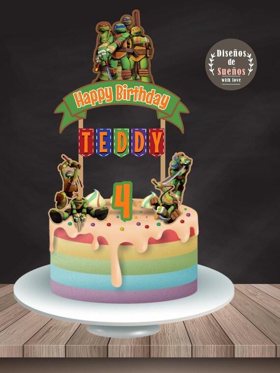 Ninja Turtles Cake Topper Ninja Turtles Birthday Ninja Etsy