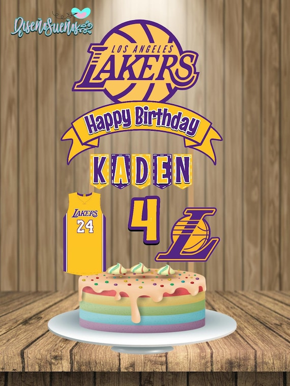Lakers Cake Topper Lakers Birthday Lakers Party Lakers Etsy