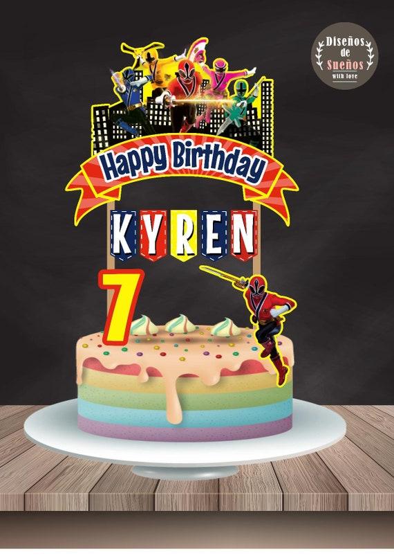 Power Rangers Cake Topper Power Rangers Birthday Power Etsy