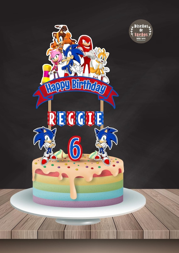 Sonic Cake Topper Sonic Birthday Sonic Party Custom And Etsy
