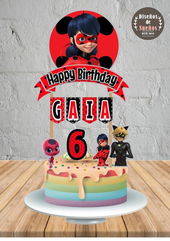 Miraculous Ladybug Cake Topper Miraculous Ladybug Birthday Etsy