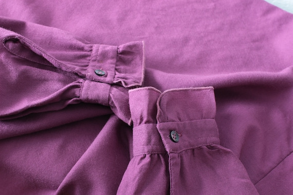 Vintage Victorian style pure wool magenta blouse … - image 9