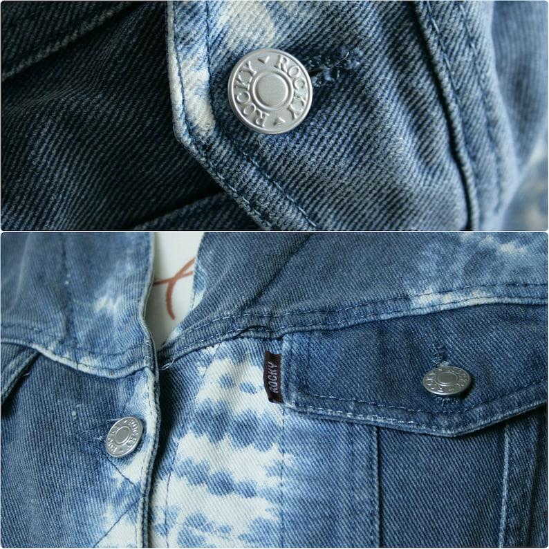 Vintage tie dye denim Italian vest Women/'s light blue white waistcoat Sleeveless button up jeans vest Washed denim vest Cotton denim vest