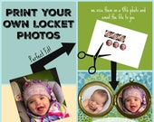 Print Your own Locket Photos, Do it yourself photo locket, Sized Locket Photos, Pre-sized Photos for your Locket, Sizing your locket photos