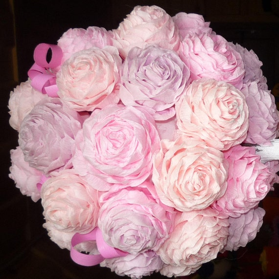 Kissing Ball Flowers Photoshoot Prop Pink Paper Poms