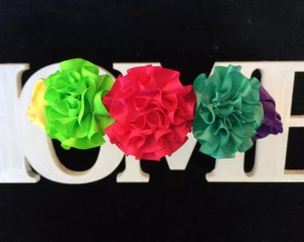 Rainbow flower headband, Flower girl, flower crown Flower hairpiece, Flower hair Rustic flower headband, Baby flower crown, hair accessories