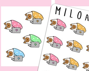Cat Laptop Stickers | Planner Stickers |