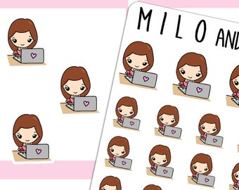 Laptop Girl | Pick your Girl | Planner Stickers