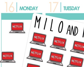 Netflix Laptops | Planner Stickers