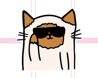 Milo being a Cool Cat with Sunglasses  | Planner Die-Cut
