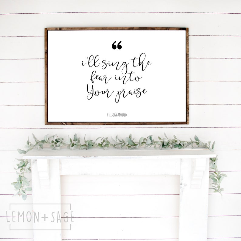 Hillsong United | Not Today song lyrics printable wall art, Instant  Download, Worship music