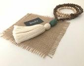 Mala Beads - Mala Necklace - Wooden Mala - Meditation Beads - Yoga Beads - Long Tassel Mala - Simple Mala - Long Mala - Mantra Beads - Mala