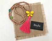 Mala Beads - Kids Mala Beads - Bright Mala Necklace - Kids Yoga Beads - Summer Mala - Kids Meditation beads - Mala Beads for kids