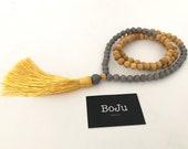 Mala beads - Mens Mala necklace - Mens Mala - Wooden Mala - 108 Mala - Yoga Beads - Meditation Beads - Mens beads - Prayer Beads