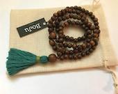 Wooden Mala Beads - 108 Mala - Mens Mala necklace - Mala - Yoga Necklace - meditation beads - Tassel Necklace - Unisex Mala - Stretch Mala