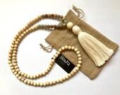 108 Mala beads - Mala necklace - wooden Mala Beads - Mala - Yoga beads - meditation beads - wooden mala - hand knotted mala - Prayer Beads