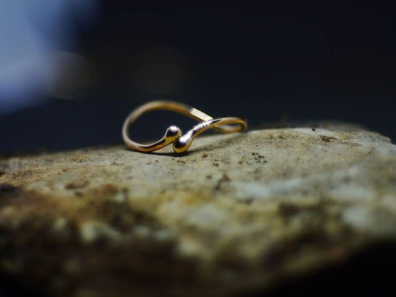 Gold duality ring 9ct womens ring