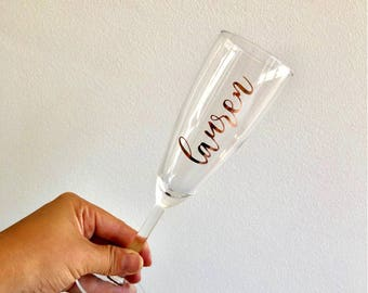 Personalised Champagne Glass / Wedding Decor/ Bridal Gift / Bridesmaid Gift / Will you Be My Bridesmaid