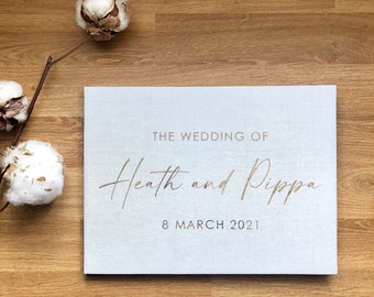 Linen Wedding Guestbook / Personalised Linen Book / Wedding Photo Book / Linen Book / Guest Book / Sketchbook Hardcover / Sketchbook