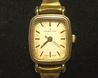 Ladies Hamilton Gold Quartz Watch in Working Condition